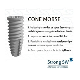 Implante Strong SW Hexágono Interno