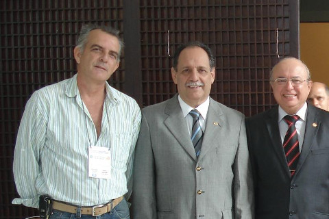 Eu, Dr. afonso e o Presidente do CFO , Dr Ailton Diogo Monilhas Rodrigues, dando o seu total apoio ao evento.