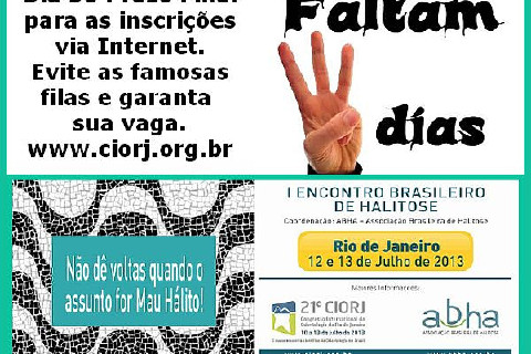 INSCRIÇÕES: www.ciorj.org.br
