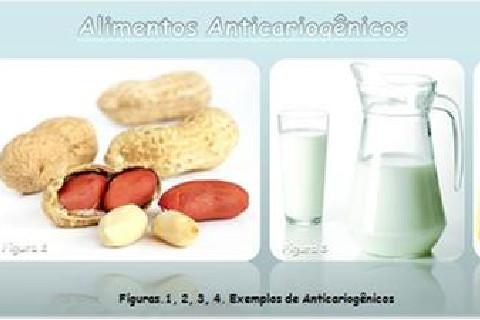 Presença de substâncias fosfatadas que impedem a queda do ph durante a ingestão do alimento, além de promover o restabelecimento do ph bucal