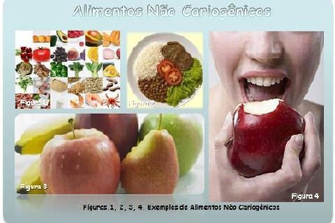 Alimentos Não Cariogênicos ou Menos Cariogênicos são aqueles que contêm uma quantidade aceitável de açúcar na sua composição.