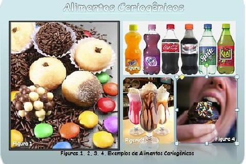 Alimentos cariogênicos são aqueles que contêm açúcar na sua composição e, quanto mais refinado o açúcar, maior será o efeito cariogênico.