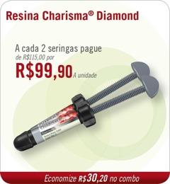 A cada duas seringas Charisma® Diamond pague R$99,00 a unidade
